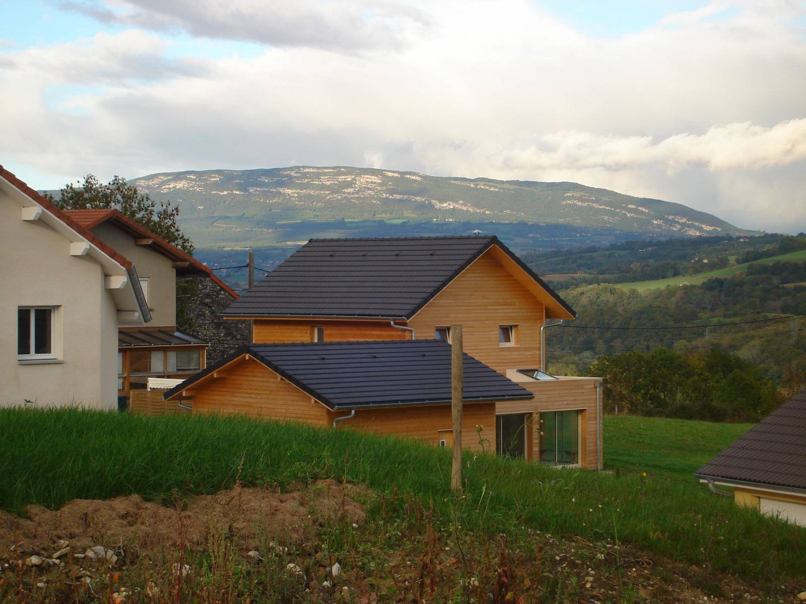 Maison En Bois Annecy maison bois à seyssel - charpentier constructeur de maison