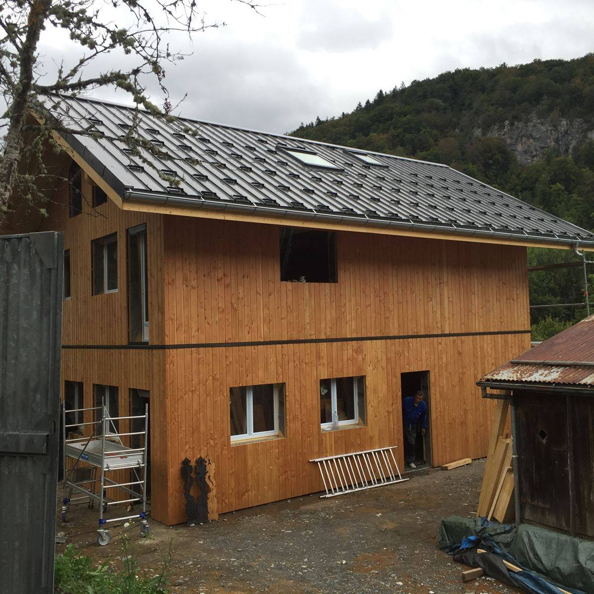 Maison En Bois Annecy maison bois près de saint joire haute savoie - charpentier