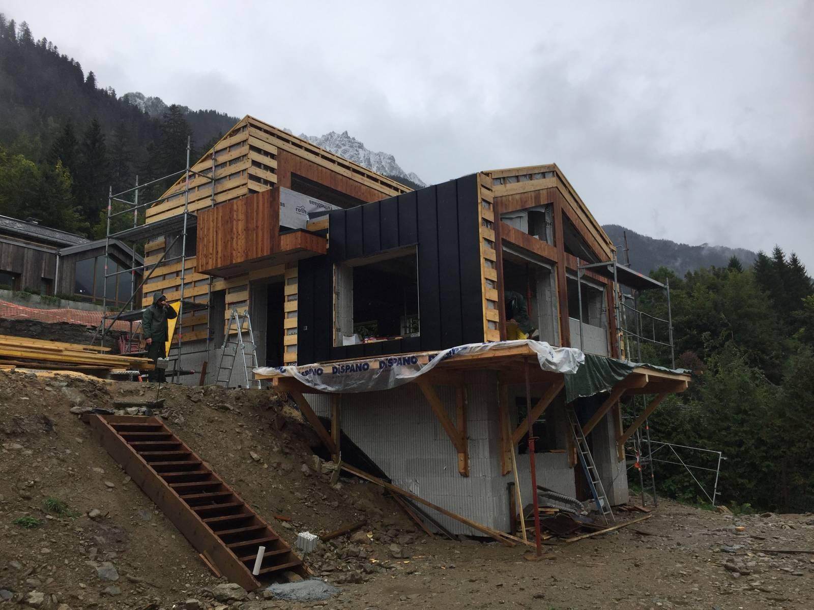 Maison contemporaine à Chamonix - Charpentier constructeur ...