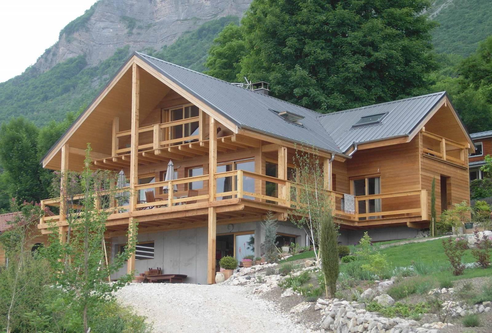 Maison En Bois Annecy construction maison en ossature bois et bardage mélèze à