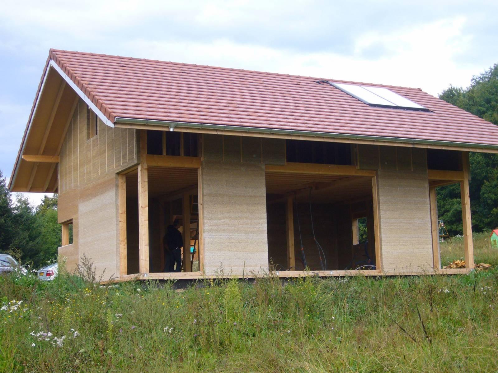 Maison En Bois Annecy maison en structure bois et chanvre - charpentier